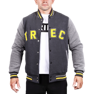 "Kurtka Trec Nutrition MEN'S TREC WEAR - YELLOW LOGO ""TREC"" - JACKET 005 SLIM /GRAPHITE"