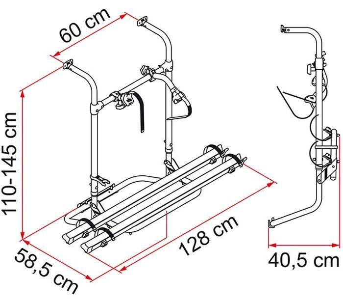 Bagażnik rowerowy Fiamma Carry-Bike Simple Plus 200