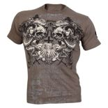 Koszulka sportowa Olimp SCREAMING SKULLS grey