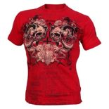 Koszulka sportowa Olimp SCREAMING SKULLS red